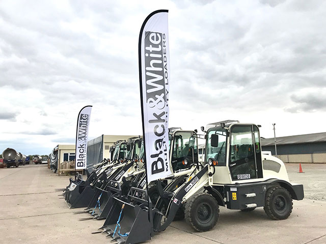 Black And White Wheel Loaders