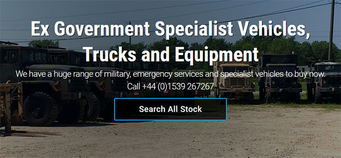 Ex Government Specialist Vehicles, Trucks and Equipment