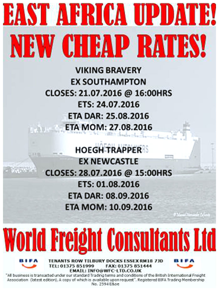 East Africa Update - Newcastle and Southampton - World Freight