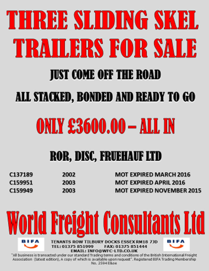Three Sliding Skel Trailers for Sale