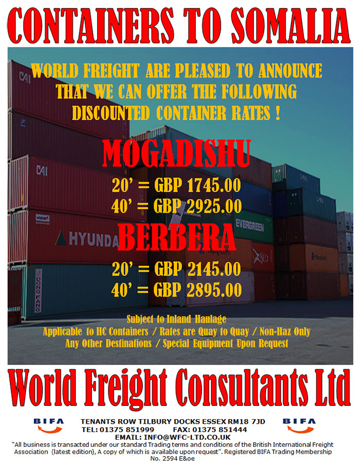 Containers to Somalia
